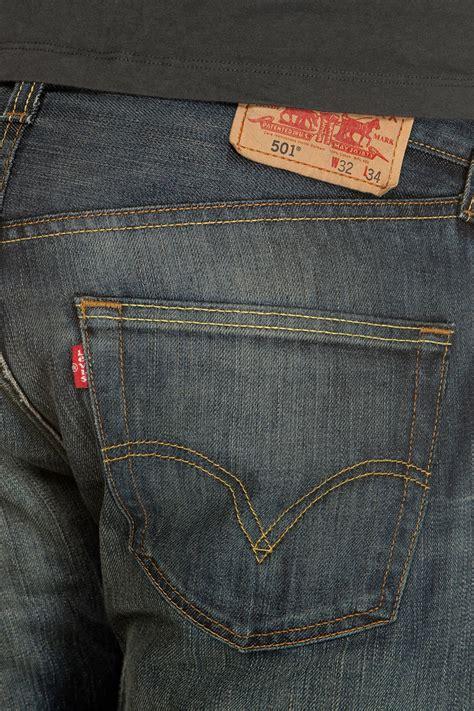 Levis Denim Standar Biru Klasik new mens levis 501 standard leg denim dusty black