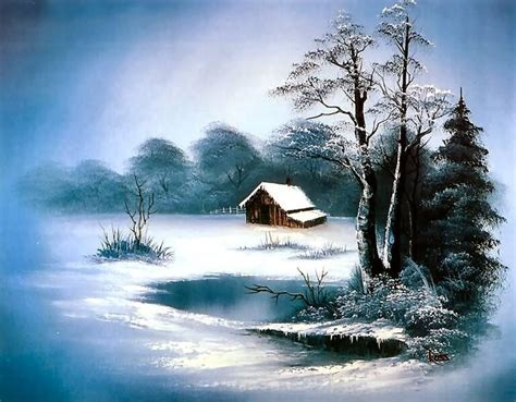 bob ross paintings winter 17 best images about charming winter on