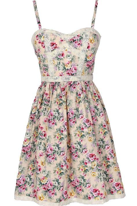 Cottage Dress by Boutique Cottage Lace Trim Floral Designer Dress
