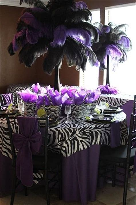 Black And Purple Table Decorations by 25 Best Ideas About Zebra Decorations On