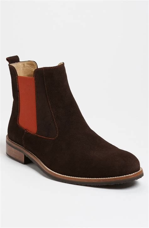 mens chelsea boots dean suede chelsea boot in brown for lyst