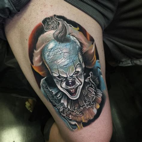 pennywise tattoo by poch tattoos