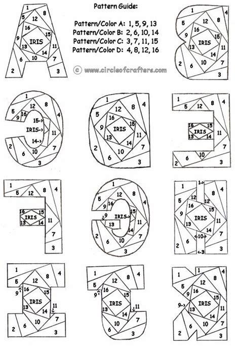 letter pattern pinterest iris folding circleofcrafters com letter patterns
