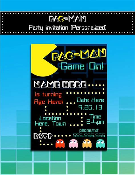 Best 25 Pac Man Party Ideas On Pinterest Man Pacman Giant Games And Really Cool Games Arcade Invitation Template