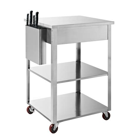 crosley furniture kitchen cart shop crosley furniture stainless steel rectangular kitchen