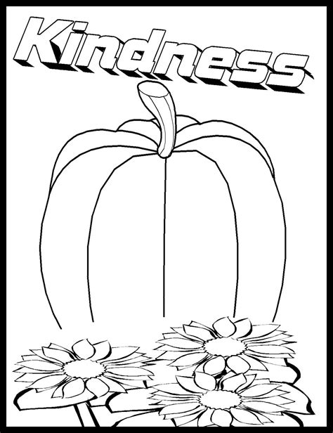 coloring pages kindness fruit of the spirit coloring pages