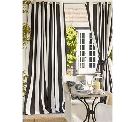 black and white living room curtains modern style thick cavas black and white vertical stripe
