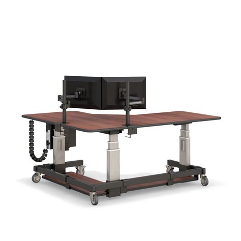 l shaped sit stand sit and stand l shaped corner computer desk