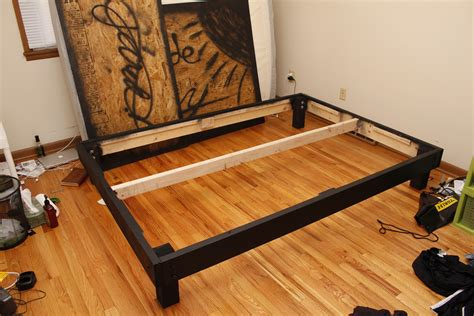 Build Cheap Queen Platform Bed Frame Quick Woodworking Build A Cheap Bed Frame