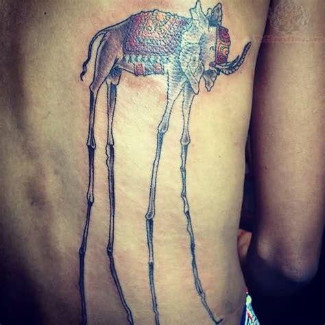 Full Body Elephant Tattoo | back body traditional dali elephant tattoo