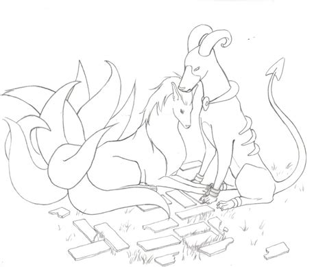pokemon coloring pages houndoom ninetails and houndoom by mimuffet on deviantart