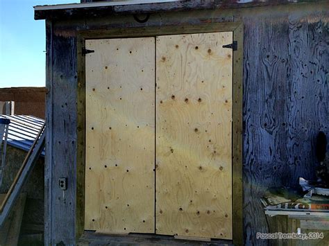 How To Hang Shed Doors by How To Install A Shed Door Measure Make Install Doors