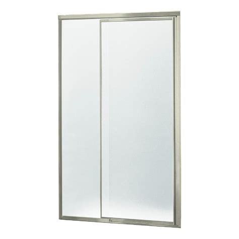 Sterling Pivot Shower Door Installation Sterling Vista Pivot Ii 48 In X 65 1 2 In Framed Pivot Shower Door In Nickel 1505d 48n G10