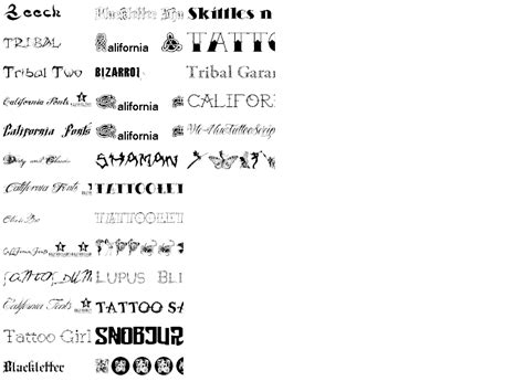 tattoo fonts pack font pack screenshot this is a collection of free