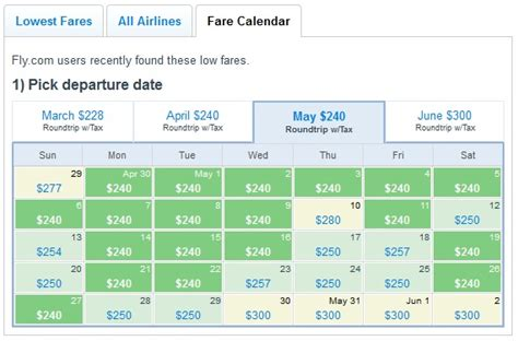 Fly Fare Calendar 10 Ways Fly Makes Finding The Best Flights Easier And