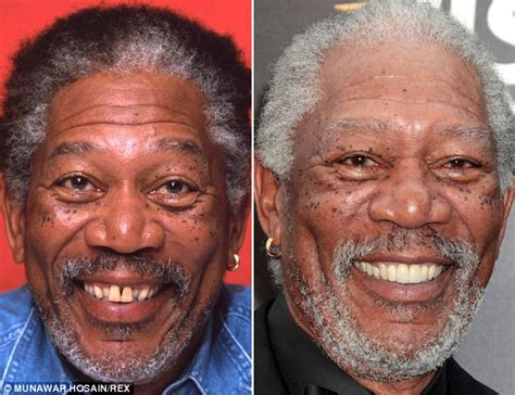 film nicolas cage morgan freeman stars who ve brushed up their smiles image with gleaming
