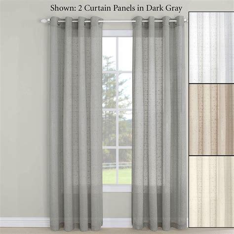 semi sheer curtains erin semi sheer grommet curtain panel