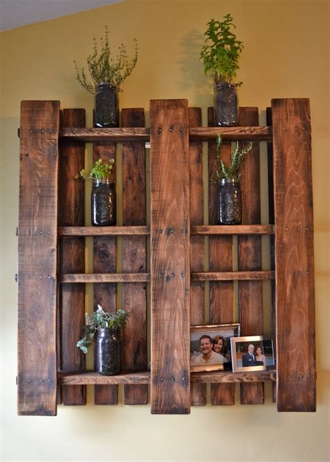 shelves out of pallets how to repurpose restaurant supplies back burner