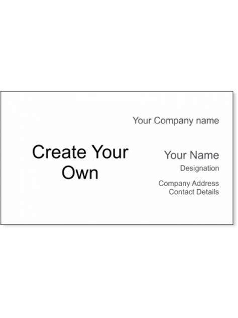 Create Your Own Card Template by Create Your Own Business Cards Design Image Collections