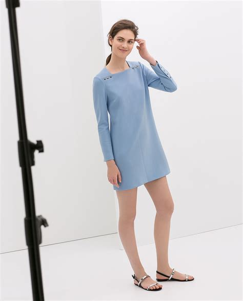 Fashion Zara 1 E 2 Top N 1 zara sleeve blue dress with buttons 100 the 12 best things at zara right now