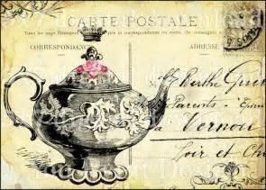 the tea whimsical vintage 5x7 design antique
