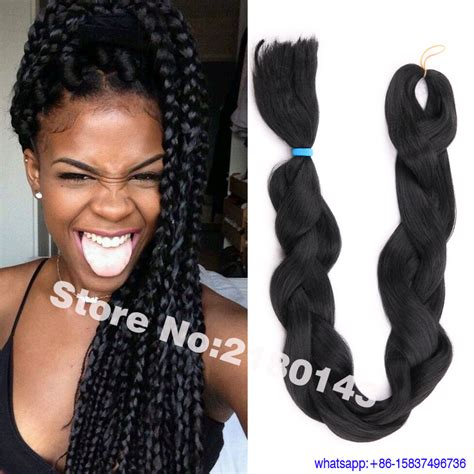 Super X Hair Weave Styles | summer hot hairstyle jet black solid color synthetic jumbo