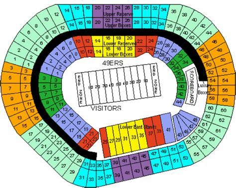 49ers stadium seating view 49ers stadium seating chart 49ers seating chart and