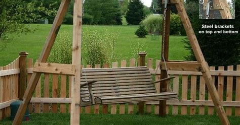 free swing sites site has free plans for this a frame swing frame