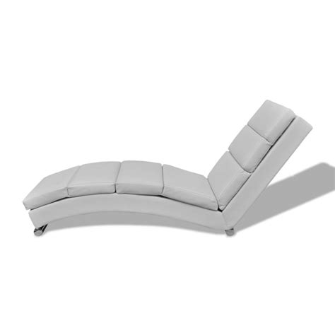white chaise 240712 chaise longue white vidaxl com au