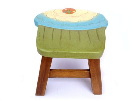 cupcake stool stool sitting stool toddler stool wood