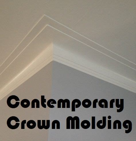 Contemporary Crown Molding Deco Crown Molding For A Contemporary Looking House