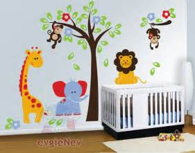 nursery wall decals baby decal safari children interior kids room design with white color