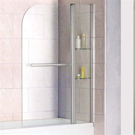 bath shower screens b q aquaspa deluxe shower screen with shelves towel rail