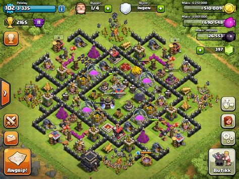 coc village layout level 8 clash of clans tips town hall level 8 layouts 2 chainimage