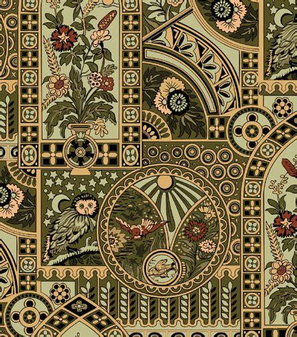 historic wallpaper nocturnal owl historic wallpapers victorian arts