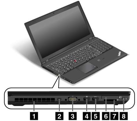 Laptop Lenovo Thinkpad W541 left side view thinkpad t540p w540 and w541 lenovo