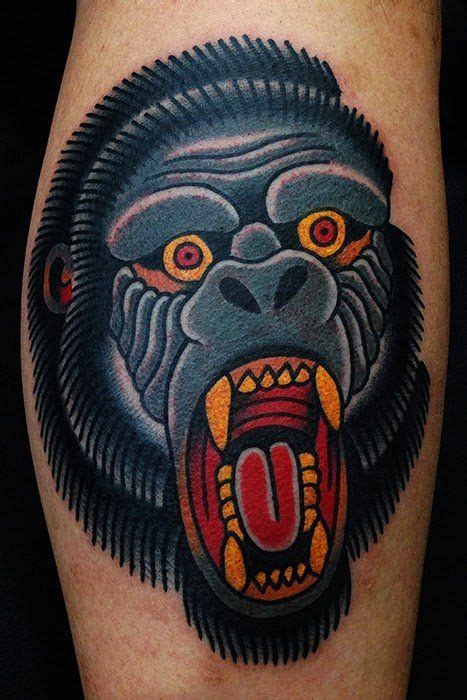 traditional gorilla tattoo american traditional gorillas search american