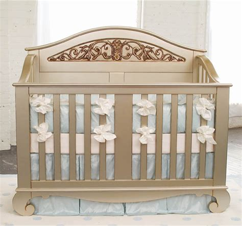 chelsea lifetime crib in antique silver traditional
