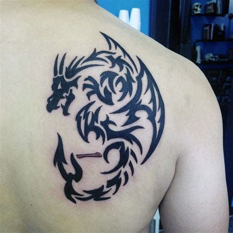 dragon back tattoos for men 60 tribal designs for mythological ink