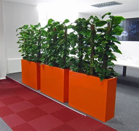 Barrier Planters by Barrier Plants Used For Office Screening Office Landscapes