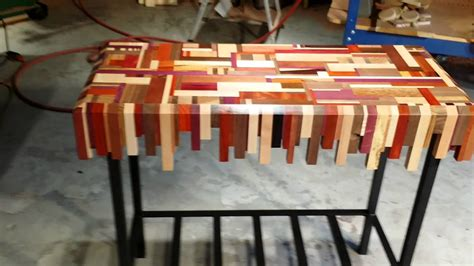 Scrap Metal Countertops by Scrap Wood Table