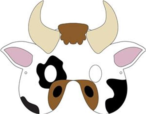 printable mask cow silhouette design store view design 32275 cow mask