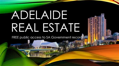 Free Records Real Estate Adelaide Real Estate Free Access To Government Records