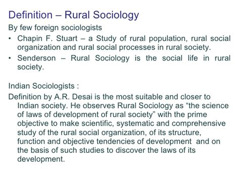 biography definition in sociology rural sociology