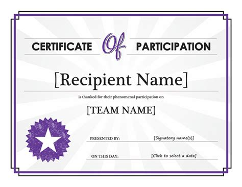 Photo Design Of Certificate Of Participation Images Microsoft Award Templates