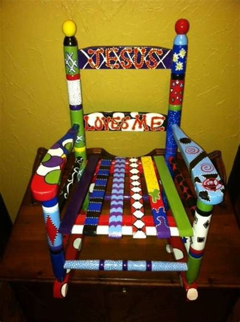 Painted Childrens Chairs by 31 Best Images About Painted Rocking Chairs On