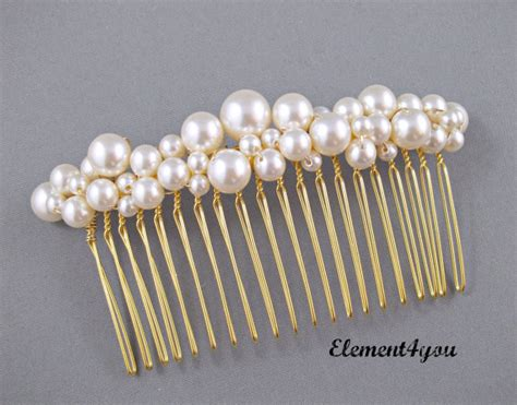 Wedding Hair Accessories With Pearls by Bridal Comb Pearl Hair Accessories Wedding Hair