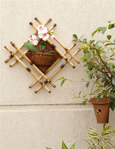 Home Decor Bamboo Sticks Bamboo Sticks Wall Decor Idea
