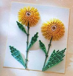 3d Origami Sunflower - origami on 3d origami origami paper and