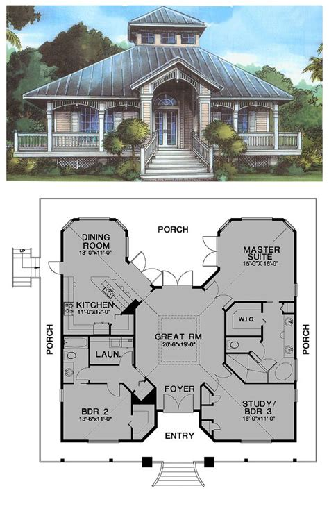 Cracker House Plans | florida cracker house plan chp 53733 at coolhouseplanscom